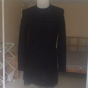Sweaters - Vintage Wool black stripped dress